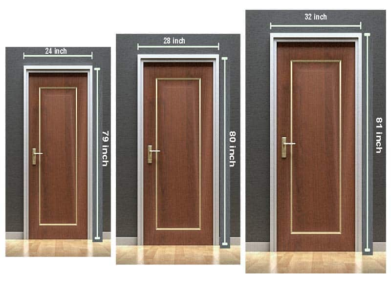 What Is The Standard Bedroom Door Size?