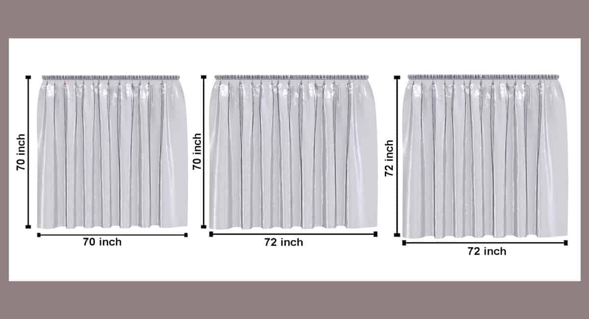 shower curtain sizes comparison